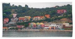 Colors Along The Coast Beach Towel by Christin Brodie