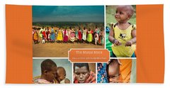 Colors And Smiles Of The Masai Beach Towel by Karen Lewis