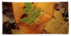 Beach Towel featuring the photograph Colors Of Autumn by Marie Leslie