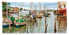 Colors Of Belize - Digital Paint Beach Sheet