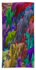 Colors Of Palette Water Colors Beach Towel