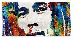 Colors Of Reggae - Bob Marley Tribute Beach Towel