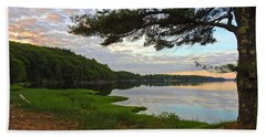 Colors Of The River Beach Towel
