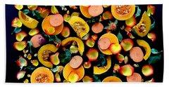 Colors Of Winter Squash Beach Towel