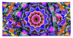 Colors O're Laid Beach Sheet by Ron Bissett