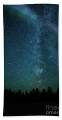 Colors Over The Milky Way Beach Towel