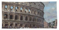 Colosseo Rome Beach Towel