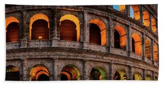 Colosseum In Rome, Italy Beach Towel