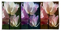 Coloured Tulips Beach Towel