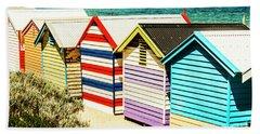Colourful Bathing Sheds Beach Towel