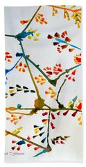 Colourful Blossoms Beach Towel by Sonali Gangane