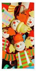 Colourful Character Clowns Beach Towel