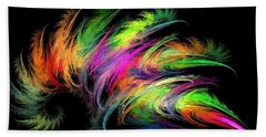 Colourful Feather Beach Towel
