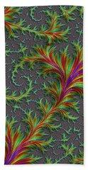 Colourful Fronds Beach Towel by Rajiv Chopra