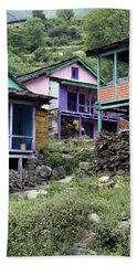Colourful Houses Beach Sheet