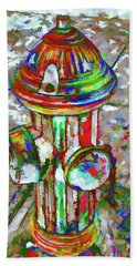Colourful Hydrant Beach Sheet by Lanjee Chee