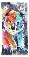 Colourful Koala Beach Towel