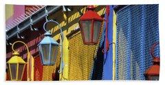 Colourful Lamps La Boca Buenos Aires Beach Towel