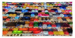 Colourful Night Market Beach Sheet