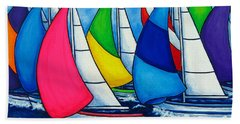 Colourful Regatta Beach Sheet