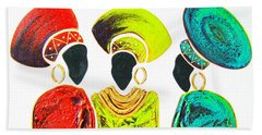 Colourful Trio - Original Artwork Beach Towel