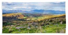 Colourful Undulating Irish Landscape In Kerry  Beach Towel by Semmick Photo