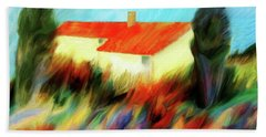 Beach Towel featuring the painting Colours Of The Wind by Valerie Anne Kelly