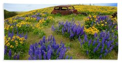 Columbia Hills Wildflowers Beach Towel