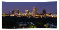 Columbia Skyline At Twilight Beach Towel