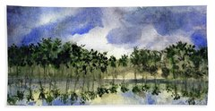 Columbian Shoreline Beach Towel by Randy Sprout