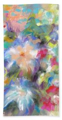 Columbine In The Wildflowers Beach Towel by Frances Marino