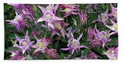Beach Towel featuring the photograph Columbine Splendor by Lynda Lehmann
