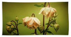 Columbines In Summer Beach Towel by Skip Tribby