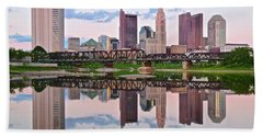 Columbus Ohio Reflects Beach Towel