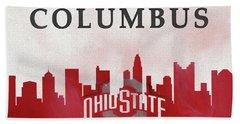 Columbus Skyline Ohio State Buckeyes Beach Towel