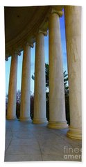 Columns At Jefferson Beach Towel by Megan Cohen