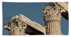 Columns Of Greece Beach Towel