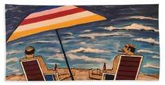 Comb Over Brothers Beach Sheet by Jeffrey Koss
