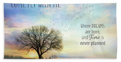 Beach Towel featuring the photograph Come Fly With Me by Lori Deiter