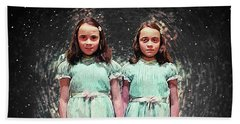 Come Play With Us - The Shining Twins Beach Towel