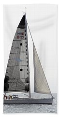 Beach Towel featuring the pyrography Come Sail Away by Shoal Hollingsworth