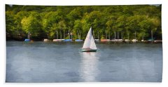 Come Sail Away Beach Sheet by Tricia Marchlik