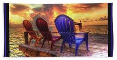 Come Sit A While Beach Towel by Steven Lebron Langston