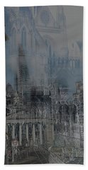 Comes The Night - City Deamscape Beach Towel