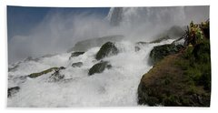 Beach Towel featuring the photograph Coming Close To Niagara Falls by Jeff Folger