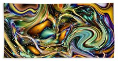 Commotion In The Motion Vii Beach Towel by Jim Fitzpatrick
