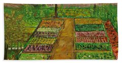 Community Garden Beach Towel
