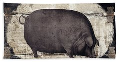 Compagne II Pig Farm Beach Towel