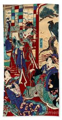 Competing Brothels 1876 Beach Towel by Padre Art