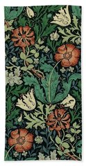 Beach Towel featuring the painting Compton by William Morris